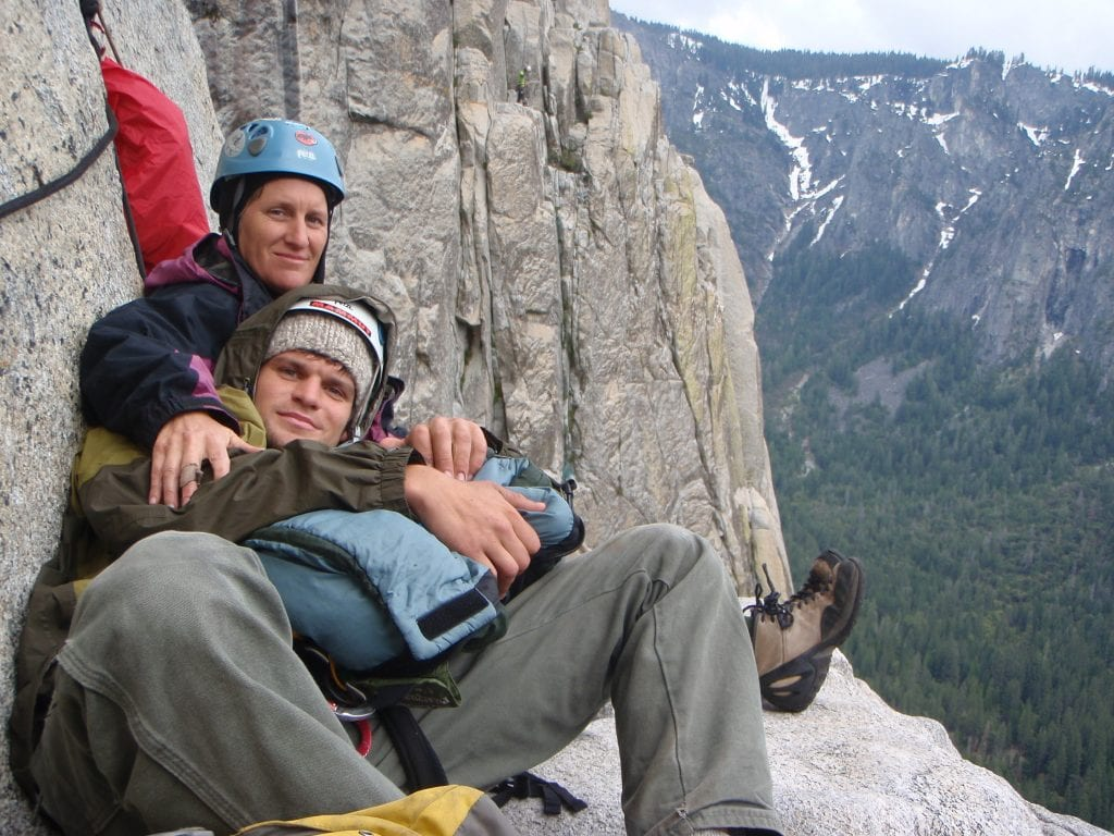 Matty and his mother, Nancy Zane, on El Capitan.