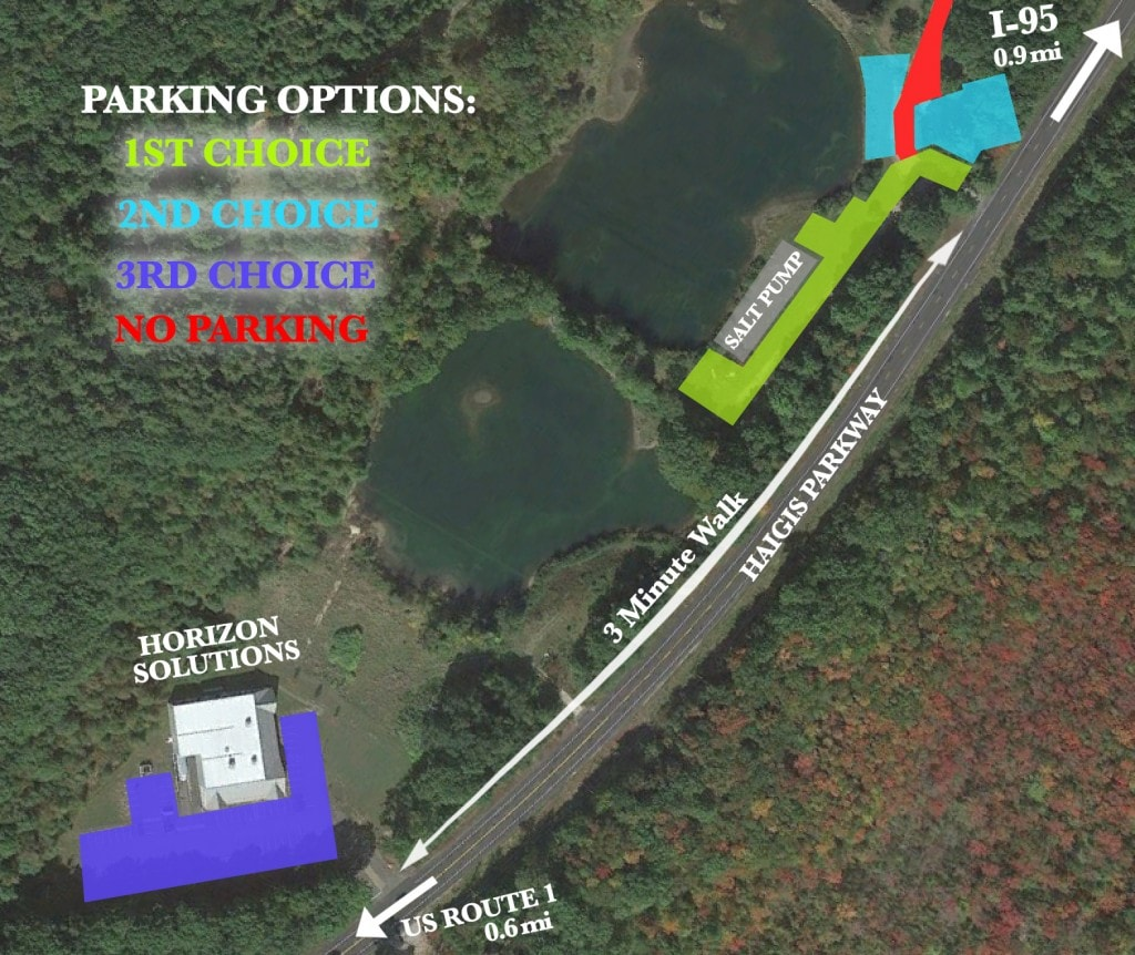 USAC COMP PARKING MAP
