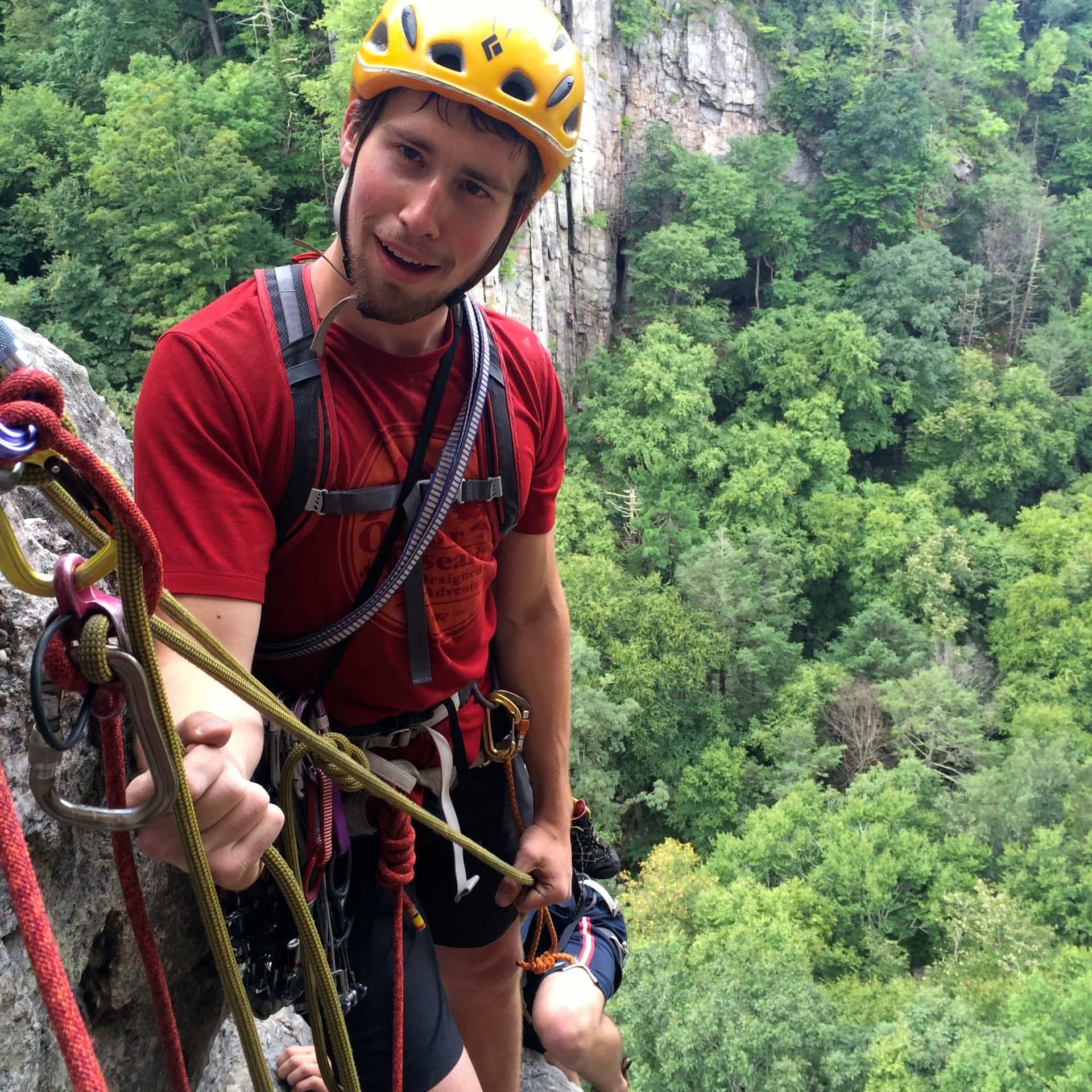 Zack Sawyer will be teaching two different three-part Trad Climbing Skills Series for Salt Pumpers this fall and early winter.